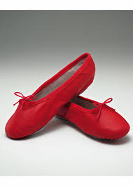 Red Leather Ballet Shoes