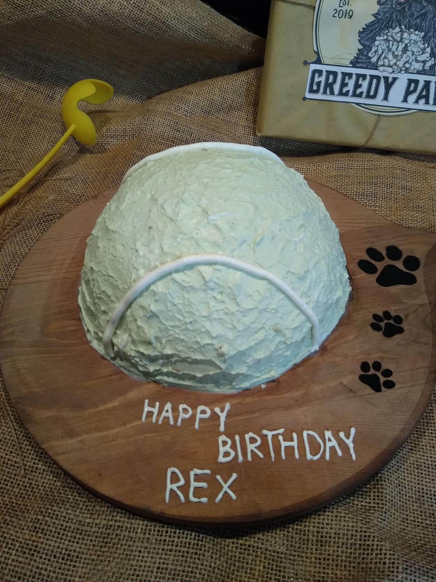 -Tennis ball- Birthday cake
