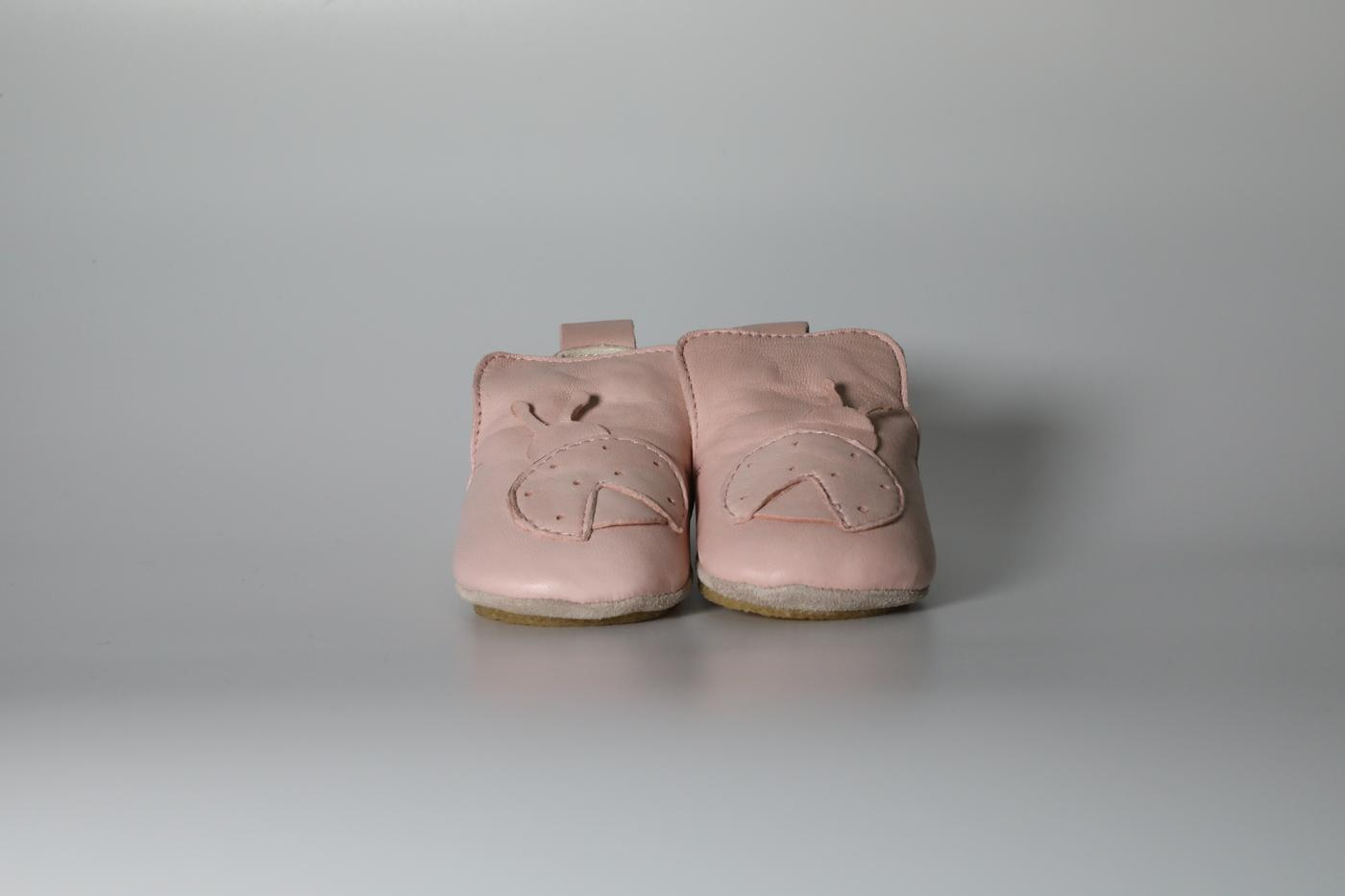 Baby pink infant shoes