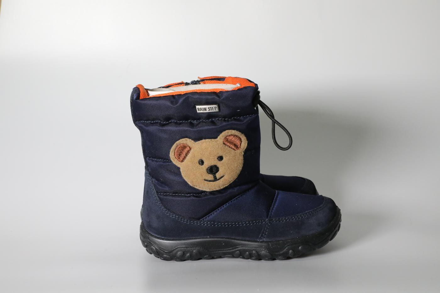 Blue bear rain boots