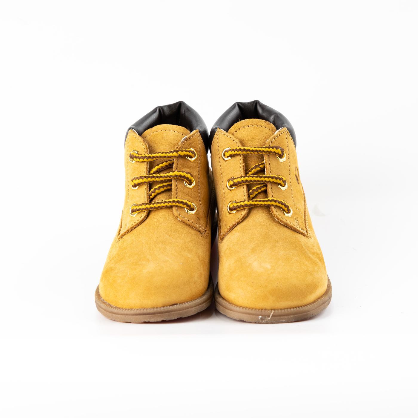 Biege Lace-Up Boots