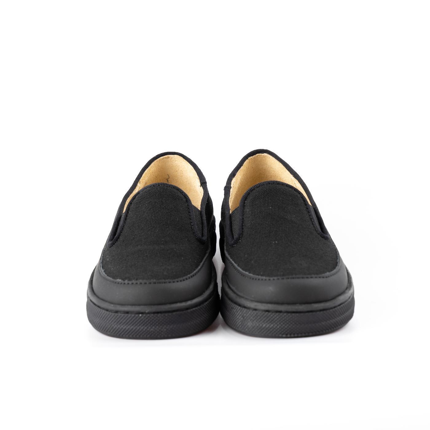 Black slip on Plimsoles
