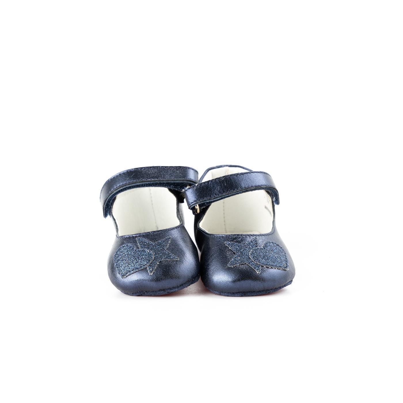 Midnight blue ballerina shoes