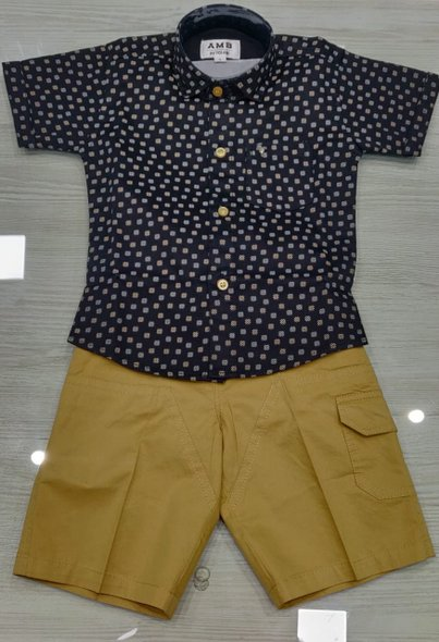 Pattern Shirt and Shorts