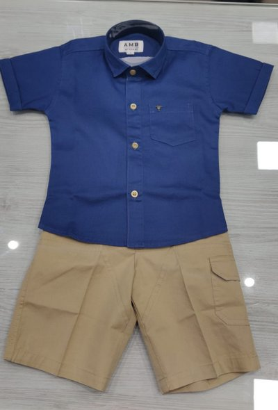 Denim Shirt and Chino Shorts Set -size 9yrs