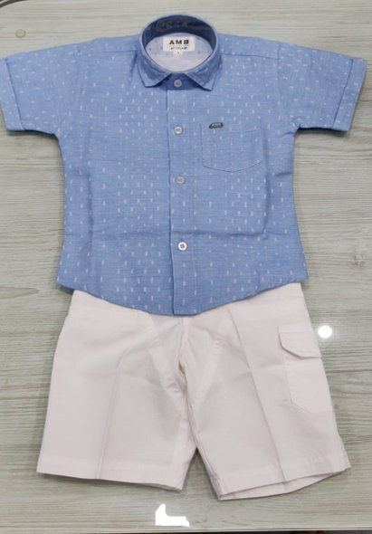 Shirt and White Shorts Set