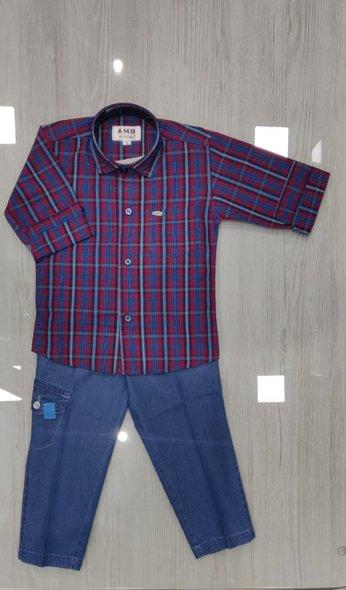 Shirt and Denim Shorts - size 5yrs