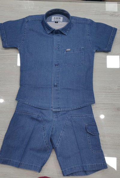 Denim Shirt and Shorts Set - size 5yrs