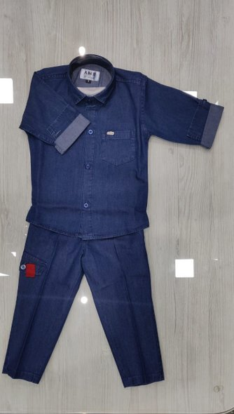 Denim Shirt and Trousers Set - size 10yrs