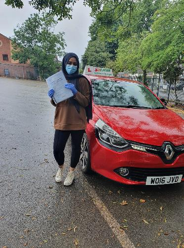 Simrah Farooqui was able to pass first time round with a few hours