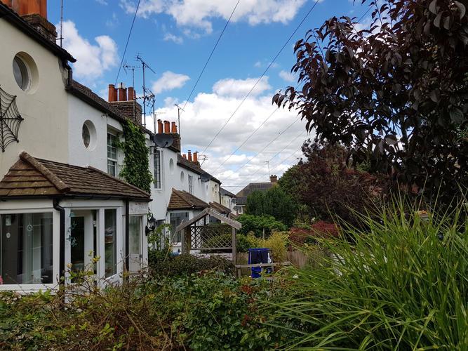 Park Cottages Hurstpierpoint. Building Surveys in the terrace.