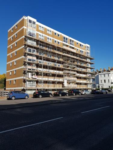 St. Catherine's Terrace Hove. Cyclical block maintenance.