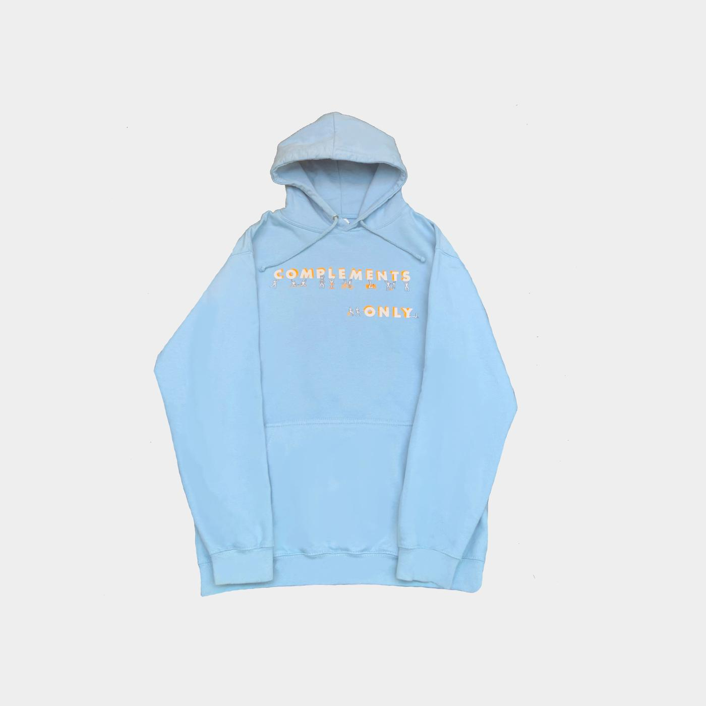 complements only hoodie (blue)