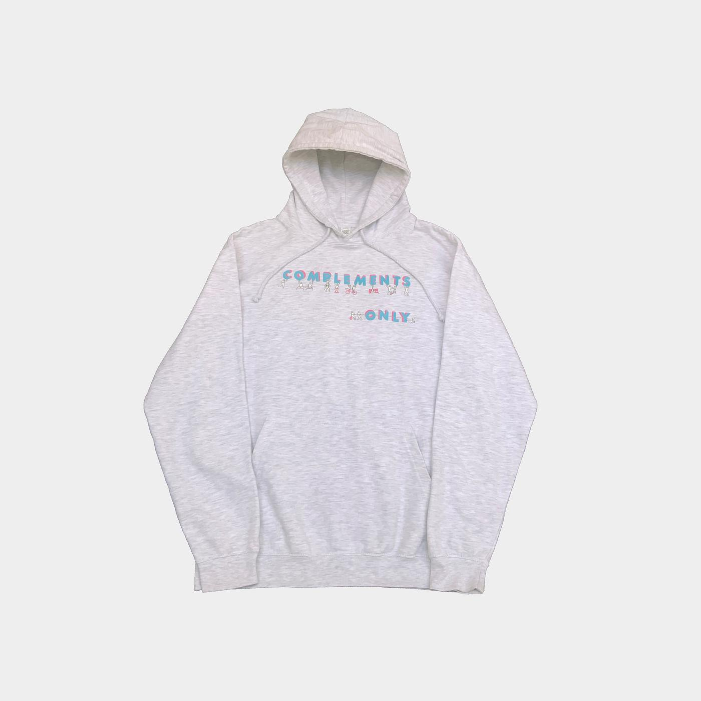 complements only hoodie (grey)