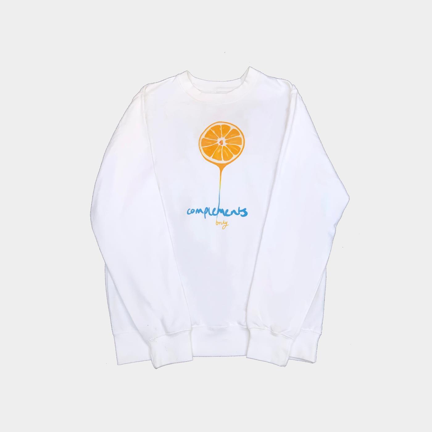 orange drip sweatshirt