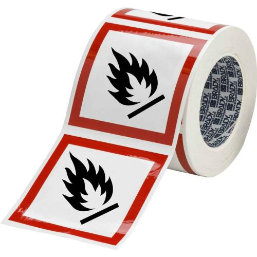 GHS Symbols on a Roll - Flammable