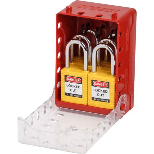 Ultra Compact Lock Box with Yellow Safety Padlocks