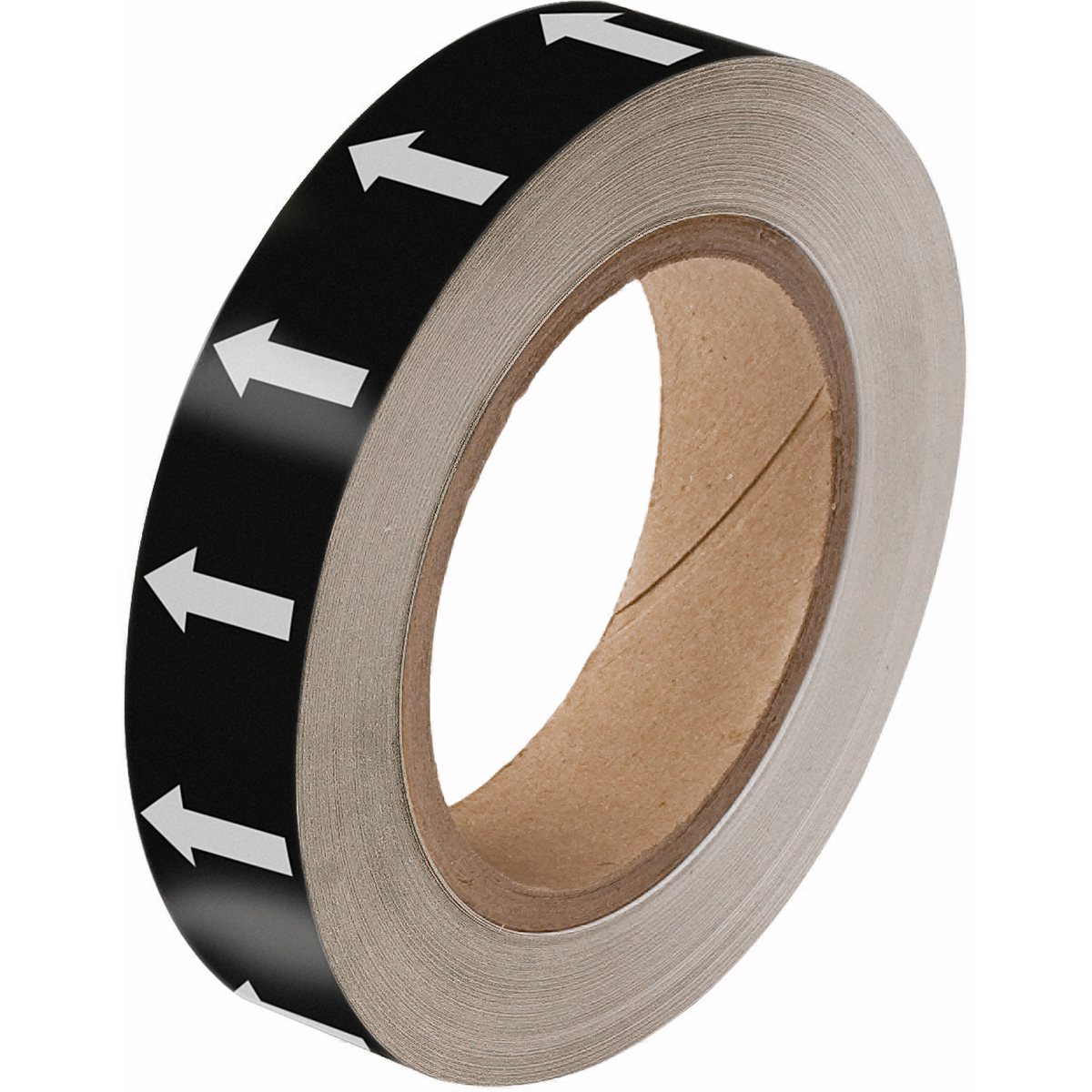 Black on White Directional Flow Arrow Tape