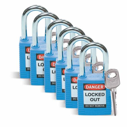 Nylon Safety Lock Out padlocks - Various Colours