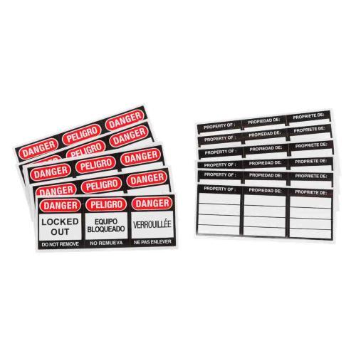 Safety Padlock Labels