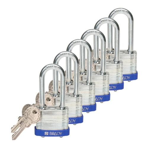 Padlock Laminated Steel - 51 mm shackle - pk of 6