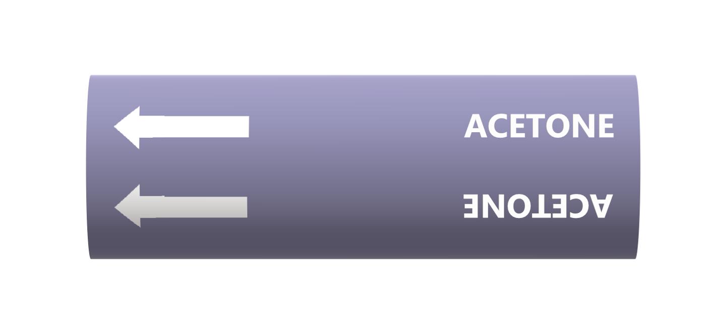 BS Pipe Marker - Acids & Alkalis (Acetone)