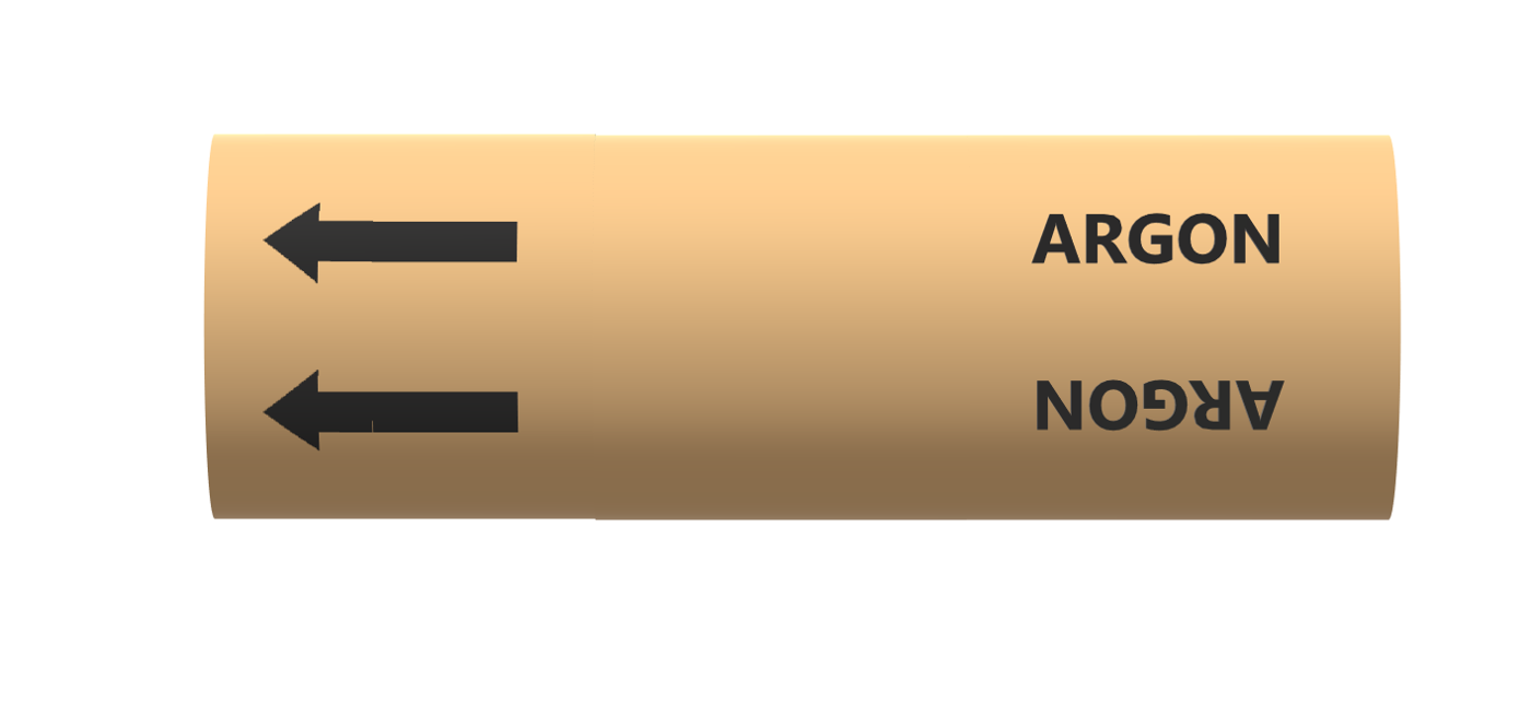 BS Pipe Marker - Argon