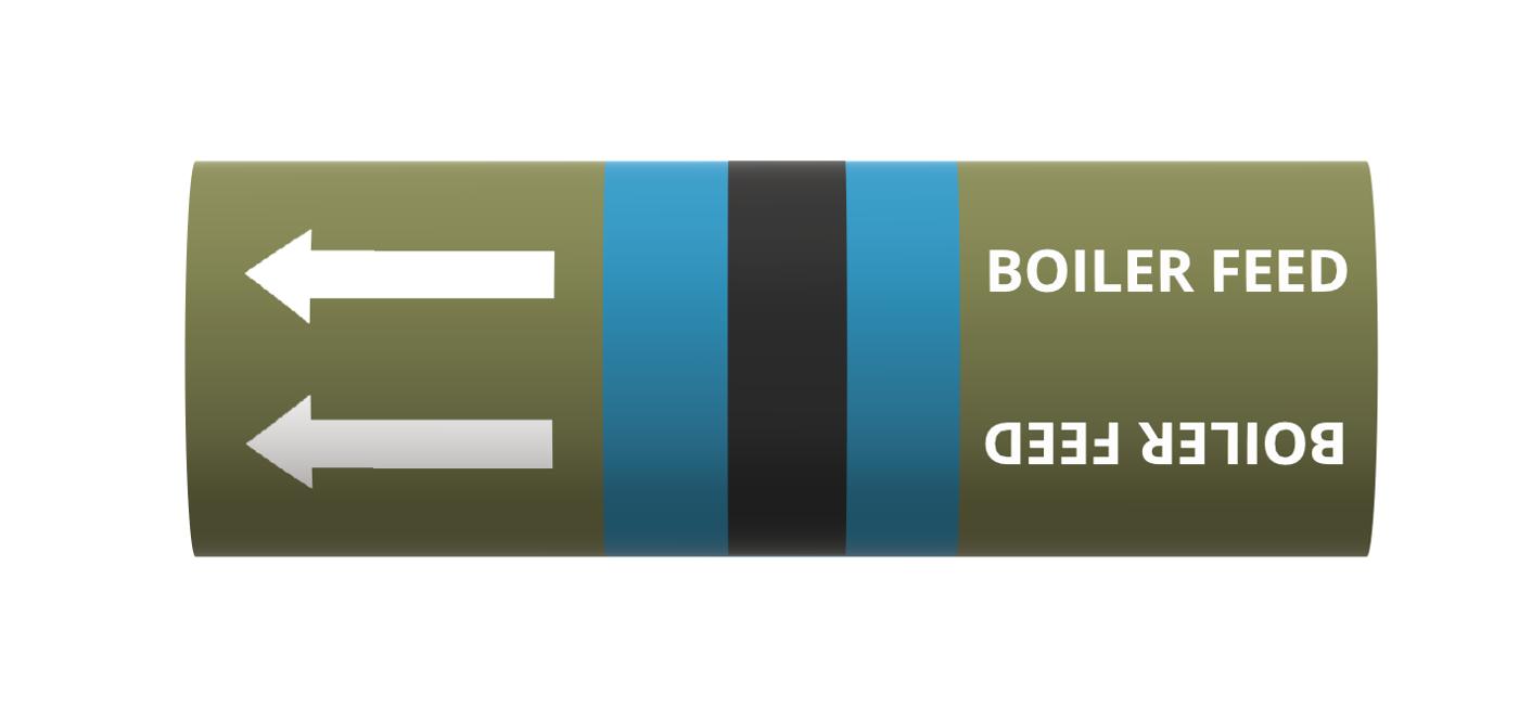 BS Pipe Marker - Water (Boiler Feed)