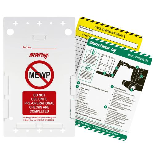 Cherry Picker Inspection Tag Kit