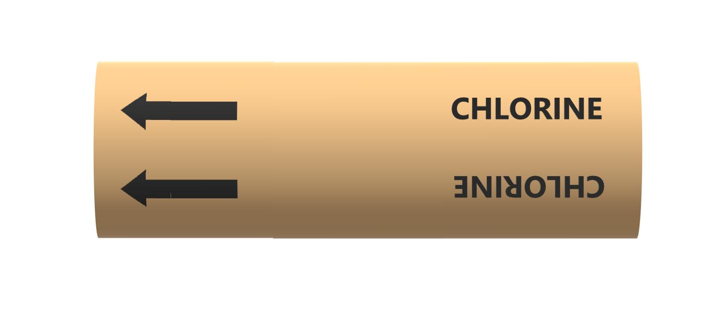 BS Pipe Marker - Gas - Chlorine