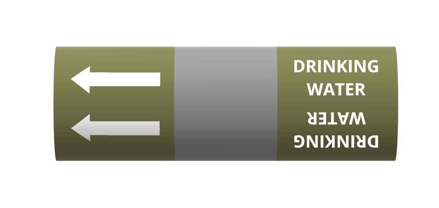 BS Pipe Marker - Water - Drinking Water Alt.