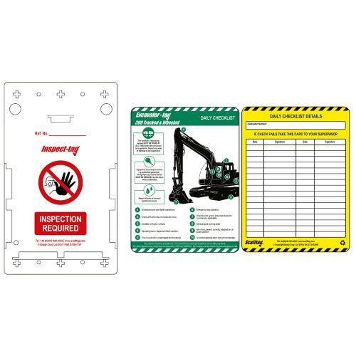 Excavator Inspection Tag Kit