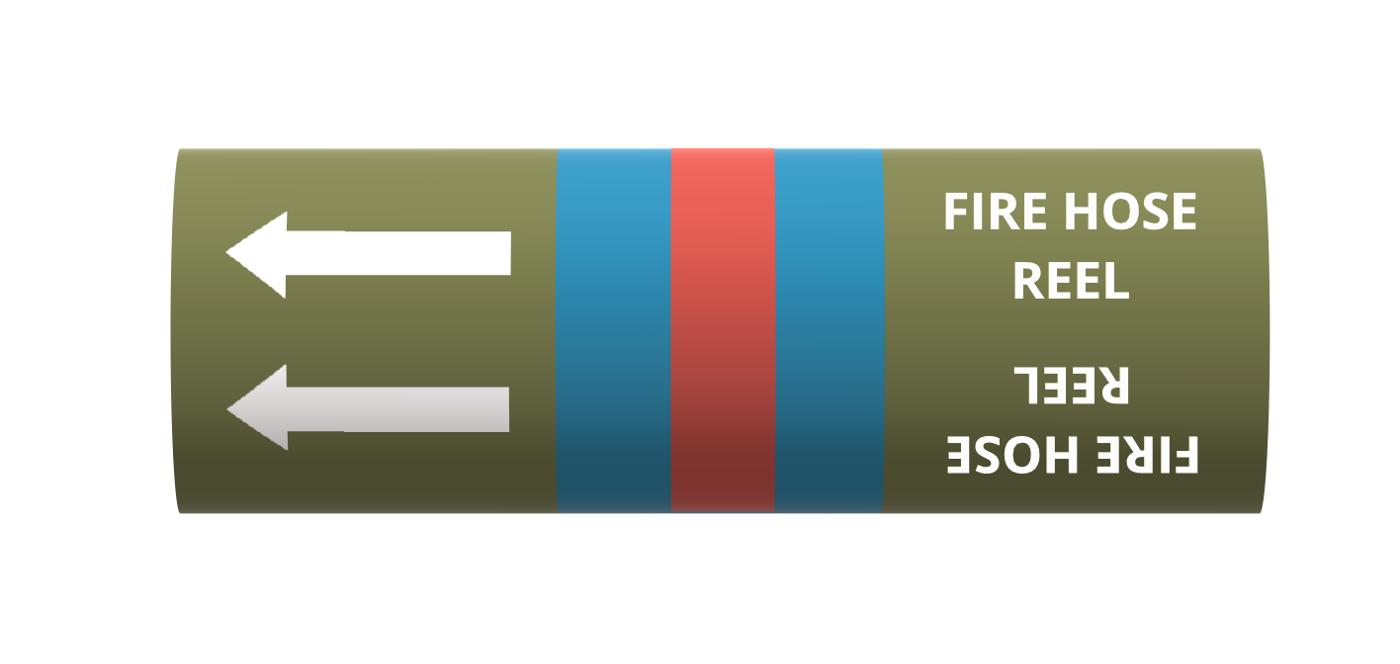 BS Pipe Marker - Water - Fire Hose Reel