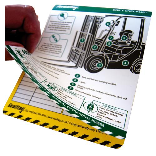 Forklift Daily Inspection Booklet