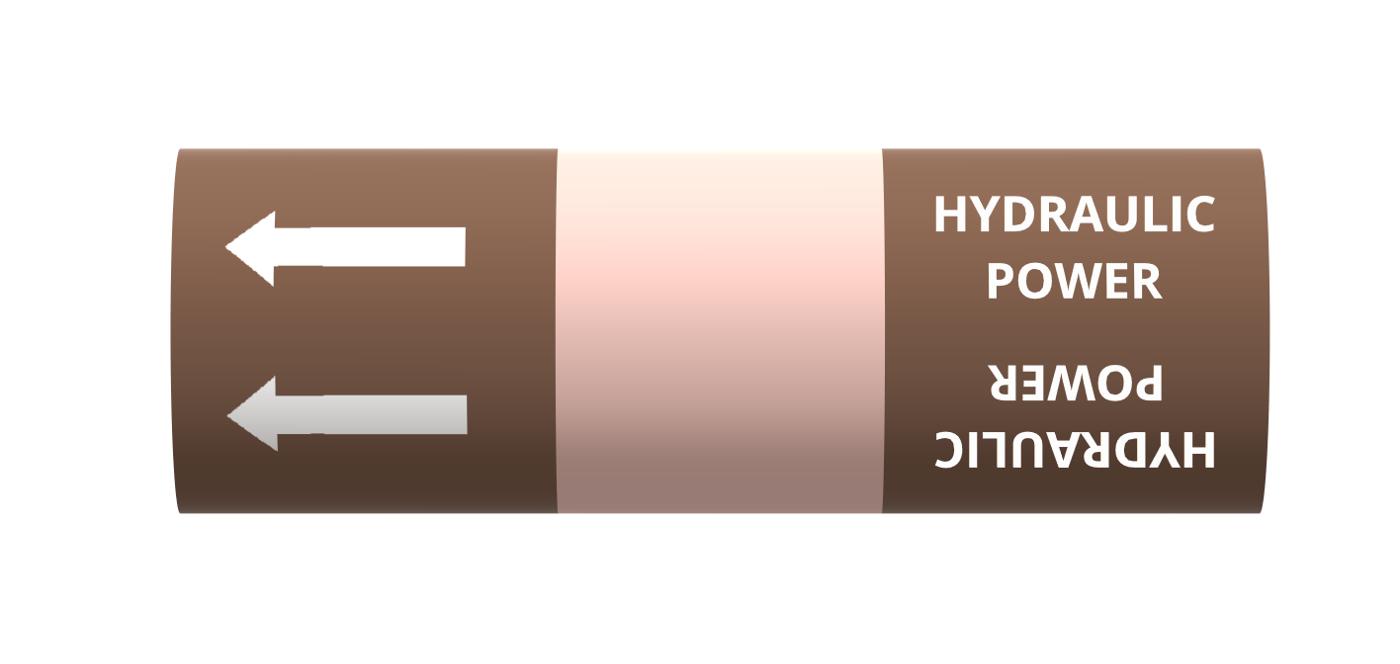 BS Pipe Marker - Oils - Hydraulic Power Oil