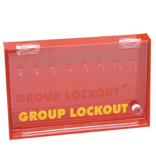Acrylic Wall Mounted Group Lockout Box - Large