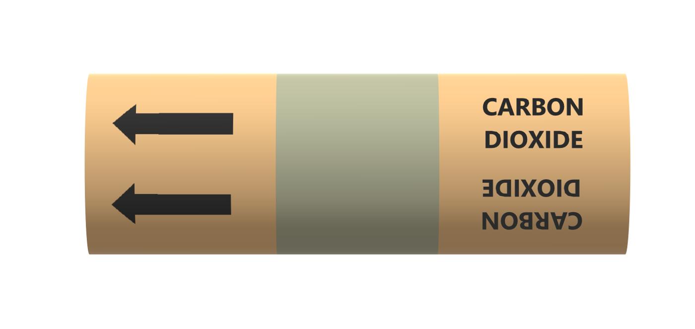 BS Pipe Marker - Medical - Carbon Dioxide