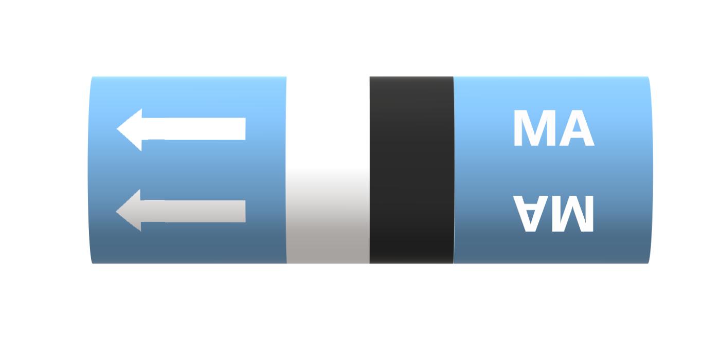 BS Pipe Marker - Medical - Medicinal Air