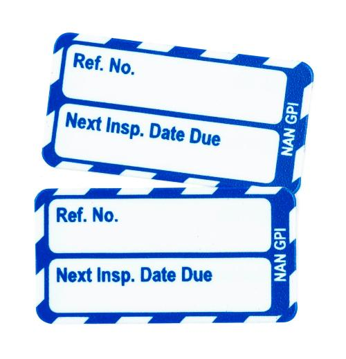 Nanotag 'Next inspection Date Due' Inspection Inserts