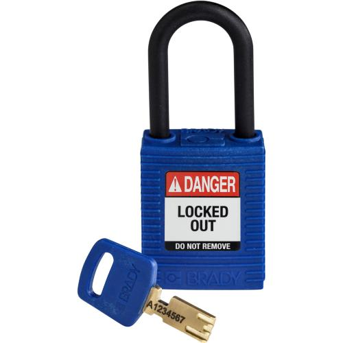 Safekey Nylon Padlocks - Keyed Differently - Blue