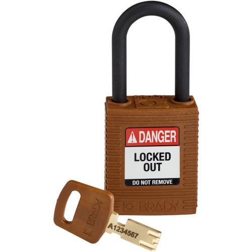 Safekey Nylon Padlocks - Keyed Differently - Brown
