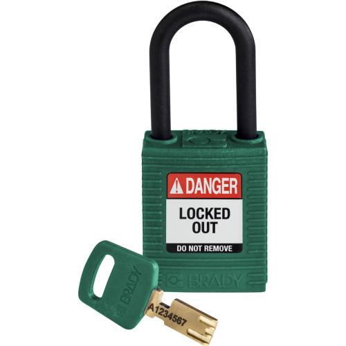 Safekey Nylon Padlocks - Keyed Differently - Green