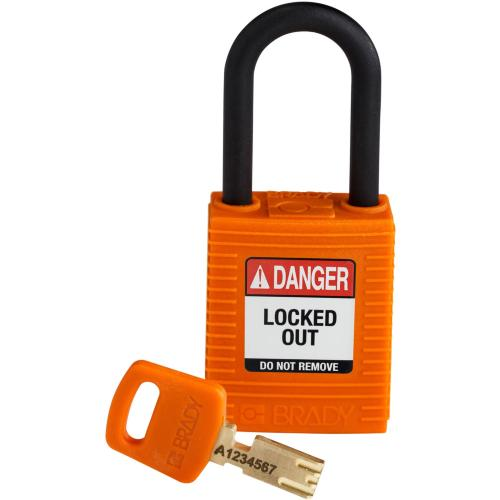 Safekey Nylon Padlocks - Keyed Differently - Orange
