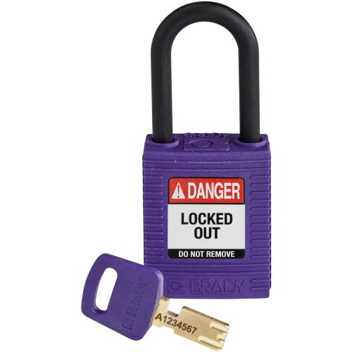 Safekey Nylon Padlocks - Keyed Differently - Purple