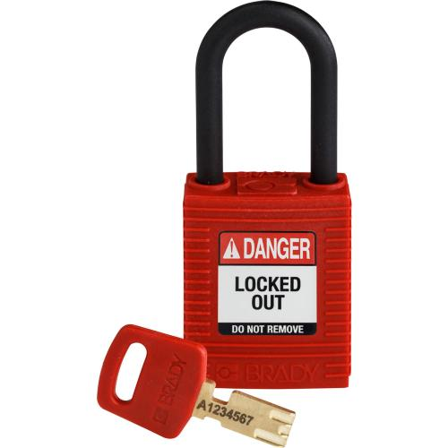 Safekey Nylon Padlocks - Keyed Differently - Red