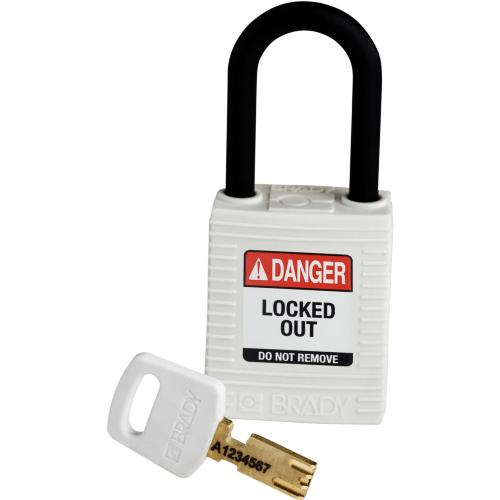 Safekey Nylon Padlocks - Keyed Differently - White