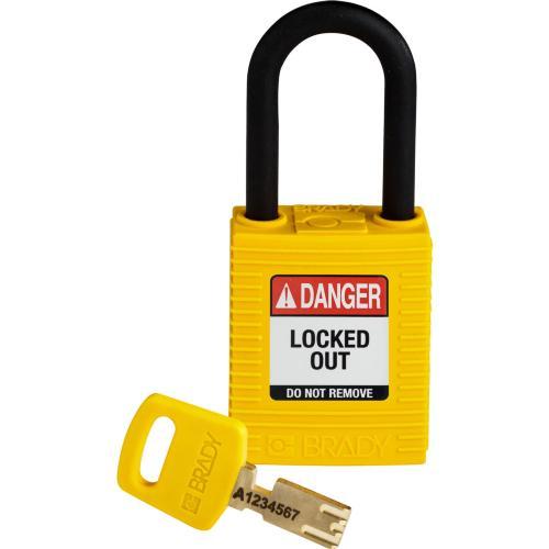 Safekey Nylon Padlocks - Keyed Differently - Yellow
