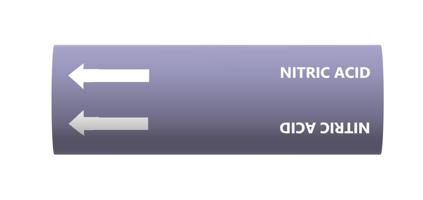 BS Pipe Marker - Acids (Nitric Acid)