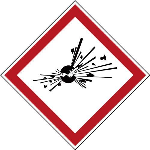 GHS Symbols on a Roll - Explosive