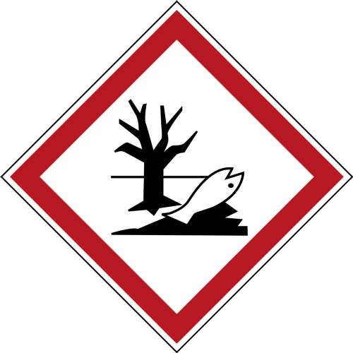 GHS Symbols on a Roll - Hazardous to Aquatic Environment
